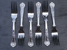 BRAND NEW Fish Forks King's Pattern x 6 stainless steel