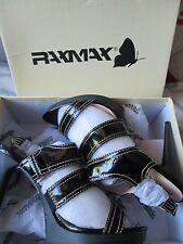 RAXMAX-noir, cuir verni, Escarpins - 4.5 in (environ 11.43 cm) guéri Chaussures Taille 8