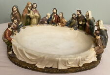 Vintage OK Lighting Jesus & 12 Disciples Figures LAST SUPPER Decorative Bowl
