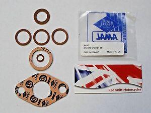 AMAL 74 75 274 275 Pre Monobloc GASKET SET Kit. W/NG G3L D/SV. NEW Genuine RK4/5
