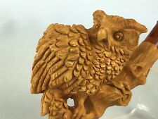 Owl 🦉 Pipe BY SADIK YANIK Block Meerschaum-NEW W CASE