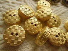 set de 10 botones dorado relieve motivo damas 2 agujeros resina couture 2,2 cm