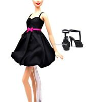 Barbie Basics Black Dress with Pink Ribbon Shoes Model No1 Collection 001.5 New