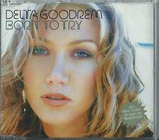 DELTA GOODREM - BORN TO TRY / REMIX / LONGER 2003 UK ENHANCED 3 TRACK CD SINGLE