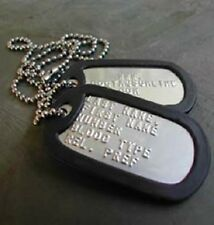 Military Dog Tags USA Stainless Steel (MATTE) + Personalized