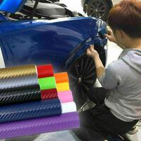 Carbon Fiber Matte Vinyl Film Car DIY 3D Wrap Sheet Roll Film Sticker Decal#