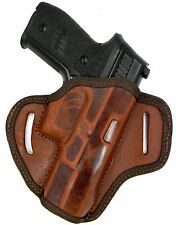 AKAR Brown Leather Right Hand OWB OPEN TOP Belt Holster for S&W SIGMA SW9V 9VE