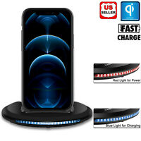 For iPhone 12,12 Mini,12 Pro Max 5G Qi Wireless Fast Charger Charging Dock Stand