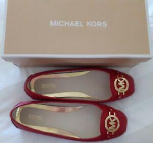 Michael Kors Ladies Red flat shoes