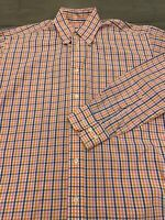 Gitman Bros Button Down Dress Shirt Men's Medium Gingham Check Pink Long Sleeve