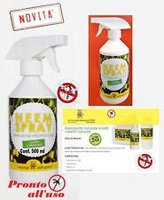 olio di neem spray 500 ml  insetticida repellente  biologico orto giardino
