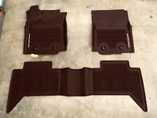 2016-2019 TOYOTA TACOMA FLOOR MATS RUBBER ALL WEATHER GENUINE OEM DOUBLE CAB 3PC