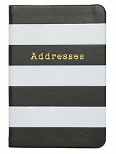C.R. Gibson Small Address Book, 192 Pages, Debossed Leatherette Cover