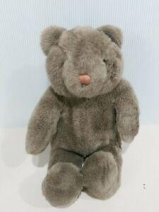 "1989 Gund Dark Brown Teddy Bear Tucker No Bow 17"" Tall"