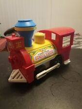 Vintage Fisher Price Little People Play Family Circus Train Red Engine #991
