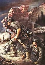 ww2 german germany paining uniform officer solider CANVAS PRINT army tank