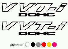 (2) VVT-I DECALS vvti decal sticker Celica Scion tc xB Matrix supra jdm toyota