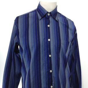 ROBERT TALBOTT BEST OF CLASS Men's Long Sleeve Button Up Shirt MEDIUM Blue EUC