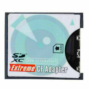 Xiwai SD to CF Adapter SDHC SDXC to 3.3mm Compact Flash Memory Converter
