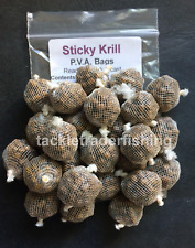 Collants Krill PVA Sacs-Prêt à crochet & Cast 25 x 20 mm sachets de thé de 4 mm Pellets