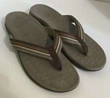 Women's Orthaheel Island Orthotic Ribbon Strap Thong Sandals Coffee  12