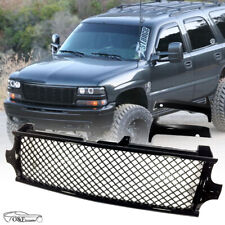 For 2000 2002 Chevy Silverado 00 06 Tahoe Front Bumper Upper Mesh Black Grille