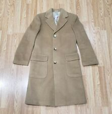 Teller Coat Made In Austria Camel Hair Winter Overcoat Peacoat Cold Weather