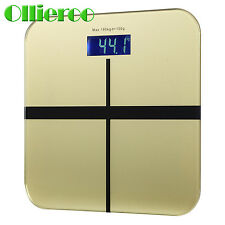 Ollieroo  Digital Bathroom Body Scale Weight Heath Fitness LCD 400LB/180kG USA