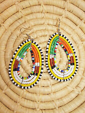 New African Maasai Earrings Masai Massai Africa S/M jemo422