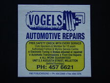 VOGELS AUTOMOTIVE REPAIRS UNIT 3, 5 AUGUSTA WILLETTON 4576621 COASTER