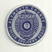 PLYMOUTH COUNTY MASSACHUSETTS POLICE OFFICERS ASSOC.  POLICE PATCH /