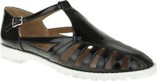 Nina Wns NEW Edge Patent Leather T-Strap Sandals Black 7.5B(M) US Orig $128