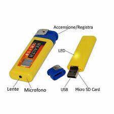 Accendino Mini Micro Telecamera Nascosta Video Camera Spia Usb Audio Foto cir