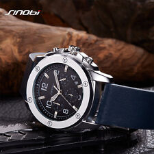 Mens Sport Chronograph Leather Wrist Watches relojes hombre relogio masculino