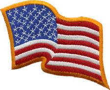 U.S. Wavy Flag  sew on high quality patch/ EMBLEM GIFT?