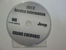 2012 JEEP GRAND CHEROKEE Service Shop Repair Manual CD DVD BRAND NEW FACTORY