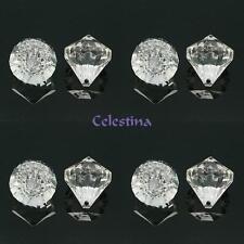 4 x acrylique transparent pendentifs facette diamant transparent 35x31mm trou 3mm PB73