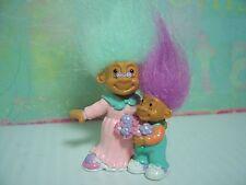 GRANDMA & ME WITH FLOWERS - Russ Miniature Troll Doll - NEW IN ORIGINAL BAG