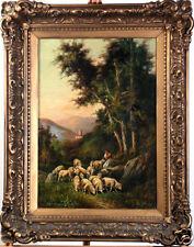 Thomas Sidney Cooper RA (England,1803-1902) Framed Signed Landscape Oil Painting