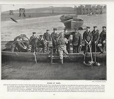 1897 VICTORIAN PRINT ~ DIVERS AT WORK FROM HMS EXCELLENT PORTMOUTH PLUS TEXT