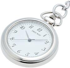 New!! Citizen Q&Q Pocket Watch FREE WAY AA92-4431B White Japan Import F/S
