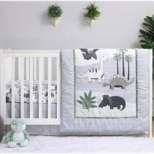 The Peanutshell Dinosaur Crib Bedding Sets For Boys 3 Piece Nursery Comforter,