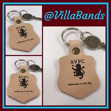 Aston Villa Holtenders In The Sky engraved quality natural leather keyring