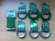 Galvanised/Green PVC Coated Garden Wire Fence Twist Tie Various Thickness Length