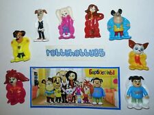 THE POOCHES - COMPLETE SET OF 8 WITH ALL PAPERS - KINDER SURPRISE 2018