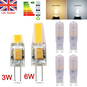 Dimmable G4 G9 LED Bulbs 3W 6W 5W 8W Capsule Light Lamp Replace Halogen Bulb UK