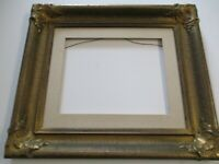 """ANTIQUE 15 BY 18"""" CARVED FRAME ART DECO ERA AMERICAN WOOD 4 PAINTING PRINT PHOTO"""