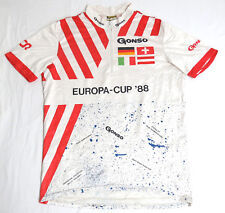 vtg Gonso 1988 EUROPA CUP CYCLING Jersey LARGE Race Competitor VCR Germany Swiss