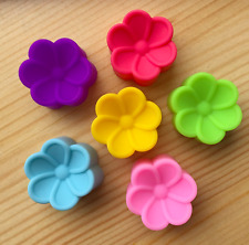 12 Mini Flower Soft Silicone Mould Jelly Jelatin Bakery Chocolate Cake Cups Soap