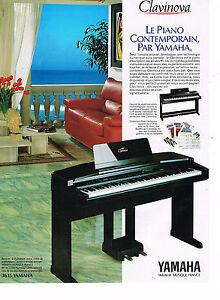 PUBLICITE ADVERTISING 074  1992  YAMAHA   CLAVINOVA   piano contemporain